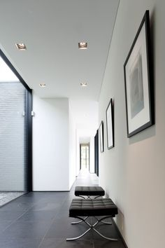 Mies van der Rohe ottomans House Faes by HVH Architecten | HomeDSGN, a daily source for inspiration and fresh ideas on interior design and home decoration.