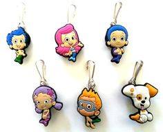 6 pcs Bubble Guppies Zipper Pulls # 2 / Zip pull Charms for Jacket Backpack Bag Pendant Hermes http://www.amazon.co.uk/dp/B00EGS7S7U/ref=cm_sw_r_pi_dp_tVeivb03YQRRE
