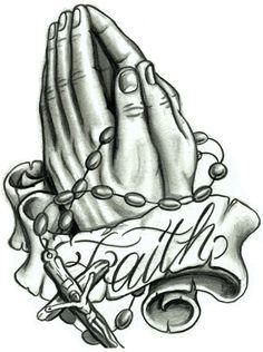Praying Hands With Rosary Bead Tattoo Design Praying Hands With Rosary Bead Tattoo Design Jesus Hand Tattoo, Prayer Hands Tattoo, Praying Hands Tattoo Design, Pray Tattoo, Prayer Hands Drawing, Rosary Bead Tattoo, Rosary Beads, Hand Tattoos For Guys, Weird Tattoos