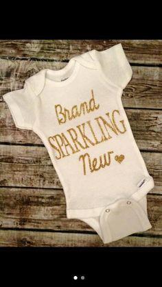 BRAND SPARKLING NEW onsie. baby onsie. infant apparel by DesignsOnaDime864 on Etsy