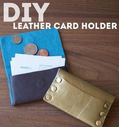 DIY Bag DIY Crafts DIY Leather Business Card Holder