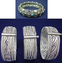 Silver bracelets.  Traditional filigree work from Mardin. (These are recent production, in the old style and technique).