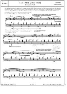 Gnossienne No.1 >>> KLICK auf die Noten um Reinzuhören <<<
