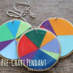 Small Things: Pie-Chart Pendants...for Pi Day!