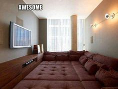 Could also use as a guest Bedroom!!!  This would be a cool place to hang out with the kids!