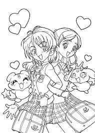 best friends | Manga coloring book, Cute coloring pages, Coloring ...