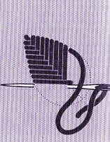 Le point de fougère - Les points de croix en broderie - La Boutique du Tricot et des Loisirs Créatifs Hand Embroidery Stitches, Hand Embroidery Designs, Embroidery Techniques, Cross Stitch Embroidery, Cross Stitch Patterns, Le Point, Needlepoint, Sewing, Knitting