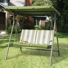 Our canopy and cushion replacements are custom made to fit your patio swing. Contact Swing Cushion Covers and More to order or learn more. (canopy replacement for swings)