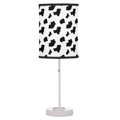 Cow Pattern Lamps .............This design features a cow pattern. Can be used with my cow pillow located in my store.