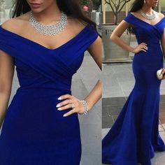 Floor Length Off Shoulder Bridesmaid Dress Mermaid Style Prom Gown
