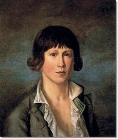 american folk art portraits | American Folk Art Painting Portrait by Rembrandt Peale - Self Portrait ...