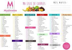 Votre liste de courses toute prête : imprimez et cochez !