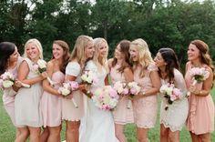 17 fotografias reais de Damas de honor em tons pastel Image: 10