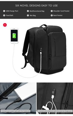 Waterproof Travel Backpack, 17-inch Laptop Backpack For Men Water Repellent Functional Rucksack with USB Charging Port Travel Backpacks.  FREE SHIPPING, but only for a limited time. Limited quantity – Will sell out fast!