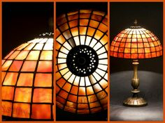 Louis Comfort Tiffany Studios New York Geometrical simple table lamp, handcrafted by Wieniawa-Piasecki Workshop www.e-witraze.pl