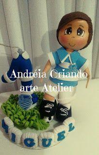 Atelier Criando arte com Andréia: topo de b olo personalizado do time do CSA,,,DE ma...