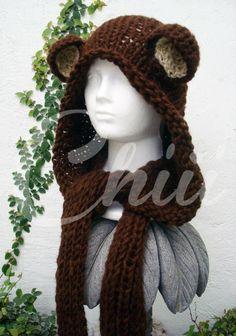 gorro de oso con bufanda incluida * Chiii