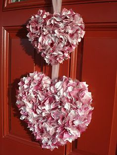 valentine home decor | Someday Crafts: Two Last Minute Valentine Door Decor