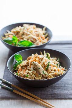 Sesame Chicken Celery Root Salad