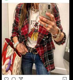 Saca la princesa que llevas dentro. 😝🌟💫♥️♥️♥️ Camiseta Pececitos Pulsera pinchos Links a mis… Blazer Outfits, Blazer Fashion, Chic Outfits, Fall Outfits, Fashion Outfits, Fashion Connection, Hippie Chic, Trendy Fashion, Street Style