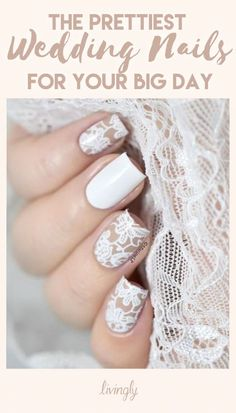 The prettiest nails for your wedding day.