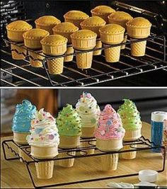 Ice Cream Cone Cakes | Holiday Cottage