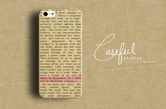 Pride & Prejudice Book Case iPhone Case - Jane AUSTEN iPhone 4 4s 5 5s iPhone 5C Samsung Galaxy S3 S4 S5 for Book Lovers