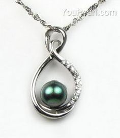 Sterling key cage white freshwater wish pearl pendant wholesale 7 freshwater black pearl sterling silver pendant discount sale 9 10mm aloadofball Gallery