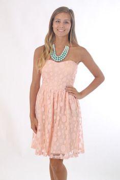 The Molly Ringwald Dress, peach $40 www.themintjulepboutique.com