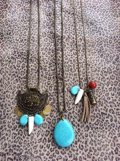 A gente coração colares longos! #necklace # torquoise