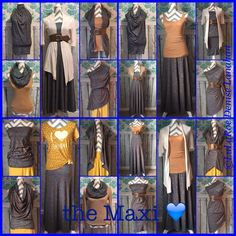 This is LuLaRoe's first skirt, the Maxi! Here is a bunch of ways to wear it!!   #lularoedeniselanahan #lularoemaxi #lularoe