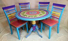 VENTA de muestra de encargo de obra-comedor mesa y sillas