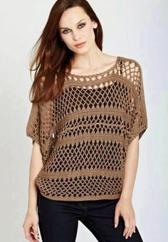 Crochet Shirt Items similar to Crochet top. Made to Order in any size and color with any modifcations. on Etsy - Mode Crochet, Crochet Diy, Crochet Woman, Cotton Crochet, Crochet Cardigan, Crochet Tops, Crochet Stitch, Diy Mode, Crochet Clothes