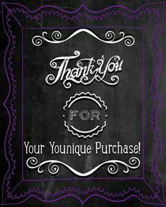 Thank You for your Younique Purchase Www.youniqueproducts.com/lanayarbrough