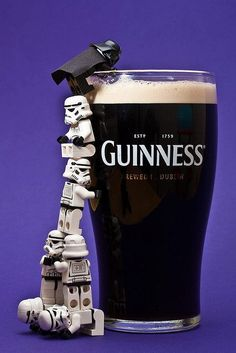 While I'm not a huge fan of beer, this ad is adorable. Combining Star Wars with just about anything will help with memorability. I love how the designers used Lego Storm Troopers and a Darth Vader in the ad. Lego Star Wars, Star Wars Day, Star Trek, Legos, Darth Vader Lego, Starwars Lego, Lego Stormtrooper, Darth Maul, Dark Vader
