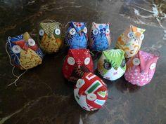 christmas owl ornaments by thundymac, via Flickr