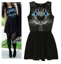 Punk fashion! 2013 spring summer printed leopard cat animal fashion punk patchwork sleeveless vest tank new girl black dress casual-in Apparel & Accessories on Aliexpress.com