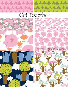 Get Together David Walker Fabric Cute Fat Pink