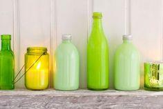 Bottiglie di vetro colorate fai da te per dare un tocco di originalità alla vostra casa   La seconda casa non si scorda mai