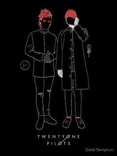 Twenty One Pilots Drawing poster