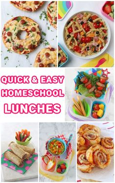 If like millions of people around the country you are currently homeschooling, and also possibly juggling working from home, caring for pre-school aged children, and everything in between, then we know that it's a LOT! Having the kids home full time also means they are having ALL their meals and snacks at home! There's nothing wrong with a sandwich lunch but if you wanted to change things up a bit, then we've put together of our favourite quick and easy homeschool lunch ideas! Pasta Salad For Kids, Salads For Kids, Easy Pasta Salad, Easy Family Meals, Quick Easy Meals, Kids Meals, Gluten Free Recipes For Kids, Easy Recipes, Easy Packed Lunch