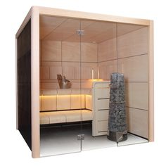The Harvia Claro Traditional Finnish Sauna is a modern sauna with a beautiful bathing experience. The large stone space of the Kivi heater allows for a soft steamy sauna. Diy Sauna, Design Sauna, Scandinavian Saunas, Modern Saunas, Piscina Spa, Small Bathroom Layout, Outdoor Sauna, Interior Led Lights, House In Nature