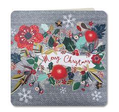 CH26: Merry Christmas Garland - £3.25 : Laura Darrington Design
