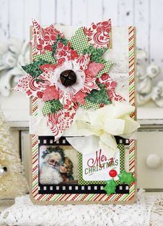 cinnamon rolls and soup... from Michelle Phillips using Tim Holtz tattered poinsettia die -Kathy H