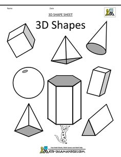 shape coloring pages shapes 3d drawing geometric printable draw simple discover sheets