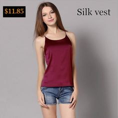 #aliexpress, #fashion, #outfit, #apparel, #shoes #aliexpress, #Camisole, #Sling, #Gilet, #Sling, #Women, #Pajamas, #Sleeveless, #Chaleco, #Seide, #Weste