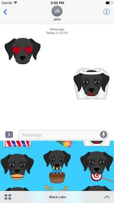 Police Officer Emoji Labrador Retriever Emoji Stickers for