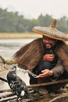Fisherman and Cormorants, Guilin, China    In #China? Try http://www.importedFun.com for award winning #kid's #science  
