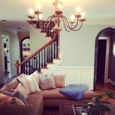 Before and After: A Light and Lovely Family Room Makeover