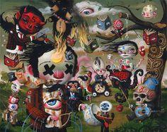 by Mark Ryden Mark Brown, Surreal Artwork, Mark Ryden, Gouache, Brown Art, Lowbrow Art, Weird Art, Strange Art, Strange Things